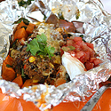 Sweet Potato Foil Packet Tacos